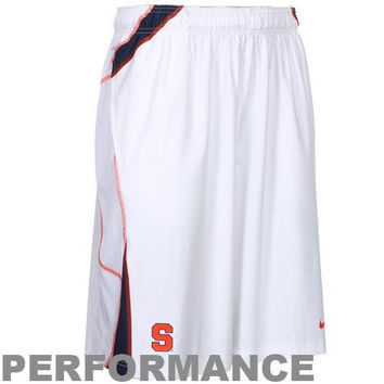 Nike Syracuse Orange Woven Replica Lacrosse Performance Shorts - White