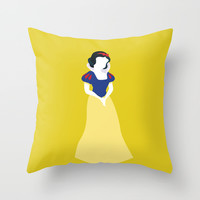 Princess Snow White Throw Pillow by Alice Wieckowska
