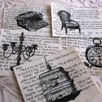Altered Art Vintage Book Pages