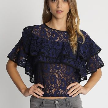 Beautiful Skies Lace Blouse | Ruche
