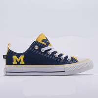 Michigan Wolverines Official NCAA Skicks Unisex Low Top Sneakers