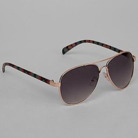 Women's Southwestern Aviator Sunglasses in Gold by Daytrip.