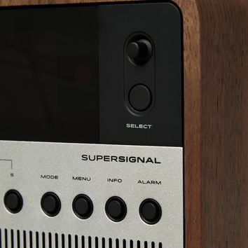 SuperSignal Walnut and Aluminium Digital Radio