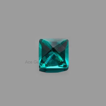 Amazing Hand Cut Gemstone, Teal Quartz Faceted Square Loose Gemstone 15mm AAA Grade - 1 Pcs.