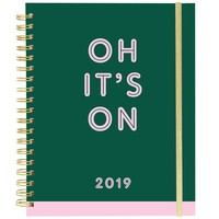 Oh It's On Large Wiro Agenda 2019 Planner in Dark Green