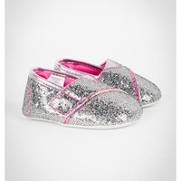 Silver Glitter Infant Slip-on Shoes