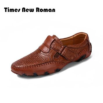 Men's Genuine Cow Leather Driving Shoes New Moccasins Slip On Handmade Shoes Design Flats