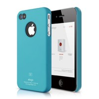 elago S4 Slim Fit Case for iPhone 4/4S with Logo Protection Film Included Soft Feeling - SF Antique
