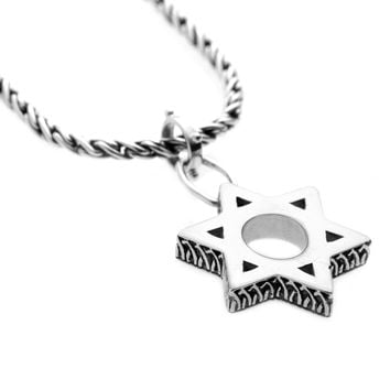 Jewish Museum Jewish Star Sterling Silver Necklace