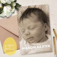 Printable Baby Photo Birth Announcement: Our Beautiful Addition