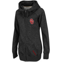 Oklahoma Sooners Ladies Trek Full Zip Hooded Sweatshirt - Charcoal