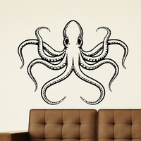 Wall Decal Vinyl Sticker Animal Octopus Sea Ocean Decor Sb409