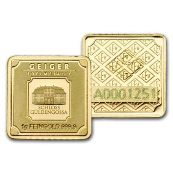 1 gram Gold Bar - Geiger Edelmetalle (Originals Series)