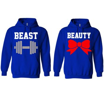 Beast and Beauty Royal Blue Hoodie