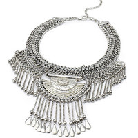 Chained Pendant Statement Necklace