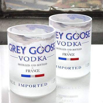 Grey Goose Tumbler Glass Made From Recycled Grey Goose Bottle