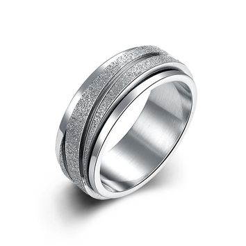 Simple 925 Silver Plated Promise Band Ring for Men and Women