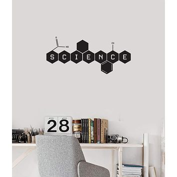 Vinyl Wall Decal Science Word Laboratory School Classroom Interior Decor Stickers Mural (ig5759)