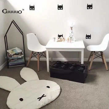 Cute Rabbit Crawling Blanket Carpet Floor Baby Bunny Play Mats Children Room Decoration Play Rugs Creeping Mat