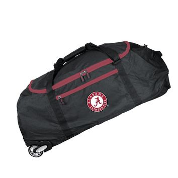 Alabama Crimson Tide 36in Checked-in Rolling Duffel-BLACK