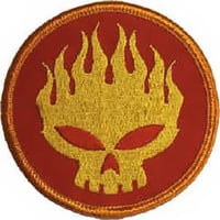 The Offspring Iron-On Patch Conspiracy Skull Logo