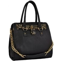 MG Collection's HALEY Gold Studded Handbag Purse
