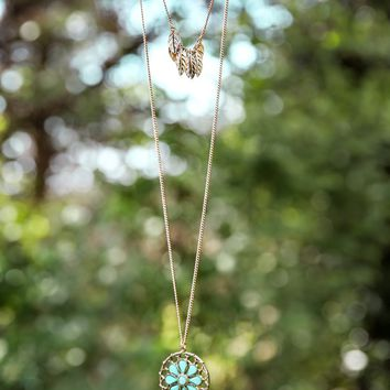 The Dream Goes On Necklace-Mint