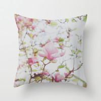 Magnolia Stories Throw Pillow by Hello Twiggs