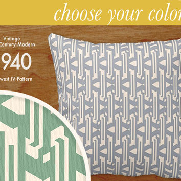 """Custom Mid-Century Modern Pattern Pillow - Midwest IV - Throw Pillow, 16x16"""" or 20x20"""" pillow or pillow cover - a laurenmary original design"""