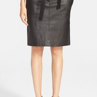 Women's A.L.C. 'Abigail' Leather Pencil Skirt,