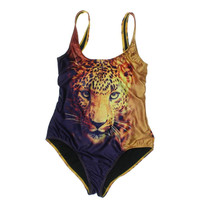 We Are Handsome Womens Animal Print Sleeveless One-Piece Swimsuit