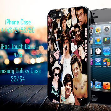 Harry Styles Collage Samsung Galaxy S3/ S4 case, iPhone 4/4S / 5/ 5s/ 5c case, iPod Touch 4 / 5 case