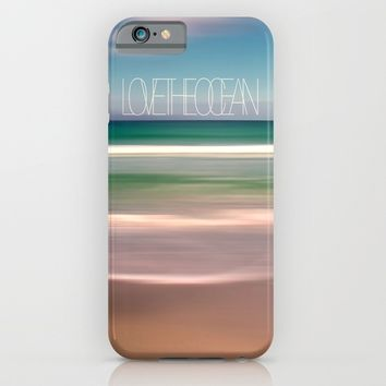 LOVE THE OCEAN I iPhone & iPod Case by Pia Schneider [atelier COLOUR-VISION] | Society6