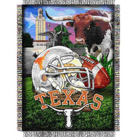 Texas Longhorns NCAA Woven Tapestry Throw (Home Field Advantage) (48x60)