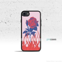 Rose in Flames Phone Case Cover for Apple iPhone iPod Samsung Galaxy S & Note