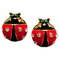 Betsey Johnson Earrings, Ladybug Stud