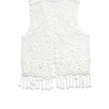 Retro Floral Crochet Vest (Kids)