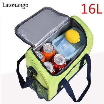 Laumango Thermo Cooler Insulated Bags for Women Kids Men Thermal Bag Picnic Bag Tote Inclined shoulder Handbag Insulated Storage