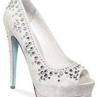 Blue by Betsey Johnson Shoes, Vow Platform Evening Pumps - Shoes - Macy's