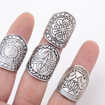 Retro 4 Pcs Totem Rings AnaeCadeau Gift-189