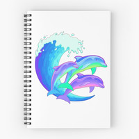 Psychedelic Dolphins by Rachel Sample