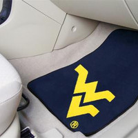West Virginia University 2 Piece Front Car Mats