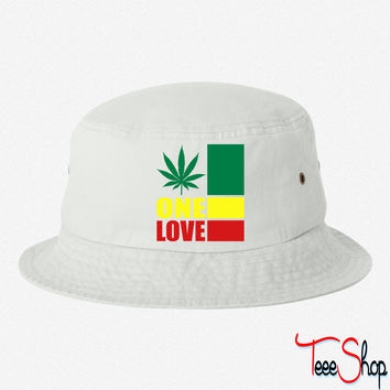 one love bucket h bucket hat