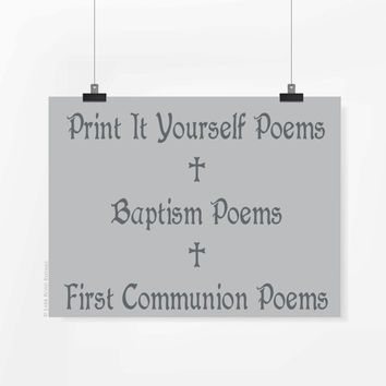 Printable Baptism Art, First Communion Printable