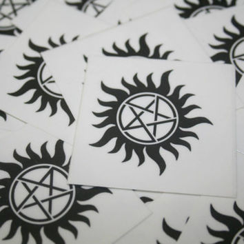 Supernatural Anti-Possession Temporary Tattoo - Single Tattoo
