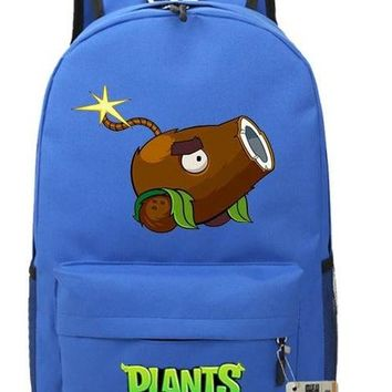 Japanese Anime Bag Zombies Vs Backpacks Cartoons Funny Plants  Men And Women Primary And Secondary School Students Bags Teenage Girl Backpacks AT_59_4