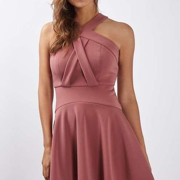 Cross Front Skater Dress - Dresses - Clothing