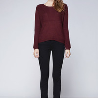 Cabernet Cable Knit Sweater