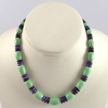 Variscite and Sugilite Necklace