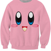 Kirby Face Crewneck Sweatshirt *Ready to Ship*